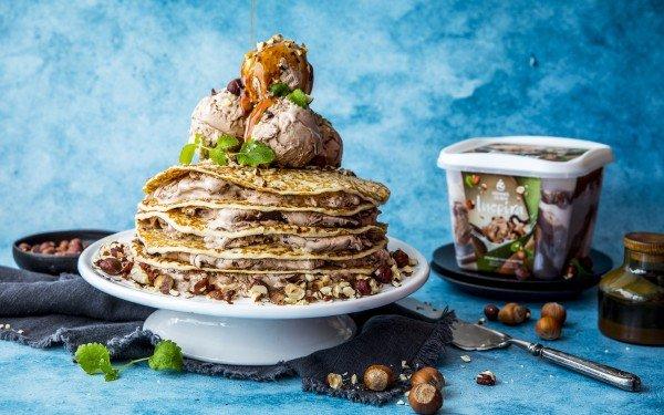 Pannekake-tårn med Inspira iskrem
