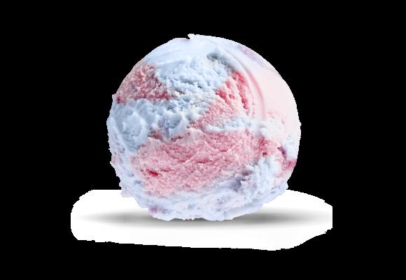 Bubblegum iskrem fra Hennig-Olsen is