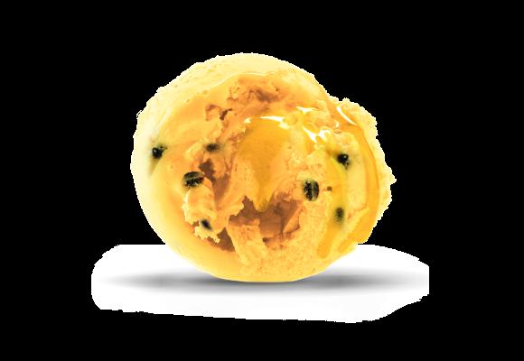 Pasjonsfrukt iskrem kuleis