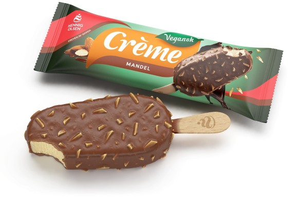 Creme mandel vegansk is