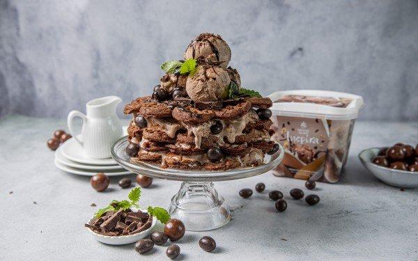 Vaffel-kake med Inspira sjokoladeis